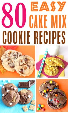 Mix Cookies Recipes Easy 5 Ingredient or Less Cookie Ideas Using Boxed Cake. - Cookie Monster, eat your heart out! -Cake Mix Cookies Recipes Easy 5 Ingredient or Less Cookie Ideas Using Boxed Cake. - Cookie Monster, eat your heart out! Cake Mix Cookie Recipes, Easy Cheesecake Recipes, Cake Mix Cookies, Chip Cookie Recipe, Cookies Et Biscuits, Cake Pops, Cookie Ideas, Unique Cookie Recipes, Easiest Cookie Recipe