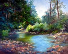 Lazy Creek, painting by artist Nel Jansen