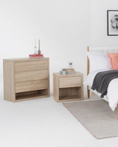 The Bennet Bedside Table and Chest of Draws. Soft close draws, perfect for a city flat. From £89 | MADE.COM
