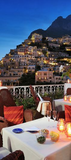 Alfresco Dining on Balcony ...Positano...Amalfi, Italy
