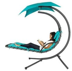 Hanging Chaise Lounger Chair: Save huge on this Hanging Chaise Lounger Chair Arc Stand Air Porch Swing Hammock Chair… #coupons #discounts
