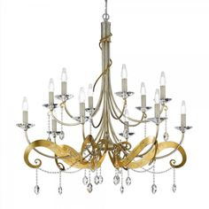 MASCA 12 light chandelier  Cod: 1834/12  Chandelier made in iron with laser cut lances and Swarovski crystal.