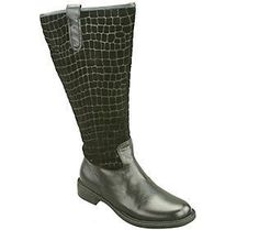 David Tate Extra-Wide-Calf Tall Leather Boots -Best 20 extra wide calf boots for women, check to see different sizes, colour and designs.