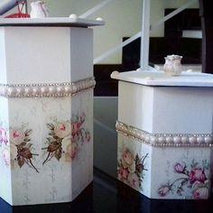 Porta Cotonete e Algodão Florido  (maior R$ 27,00 / menor R$ 25,00) *aceitamos encomendas* . . . #artesanato #mdf #mdfdecorado #art #artbelem #bazar #decoration #presente #portacotonete #flores #portaalgodao #gift #flowers #belém