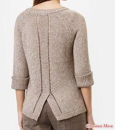 Сама вяжу – Knitting patterns, knitting designs, knitting for beginners. Hand Knitted Sweaters, Sweater Knitting Patterns, Knitting Designs, Tunic Pattern, Jacket Pattern, Knitting Blogs, Hand Knitting, Long Sleeve Sweater, Knit Crochet