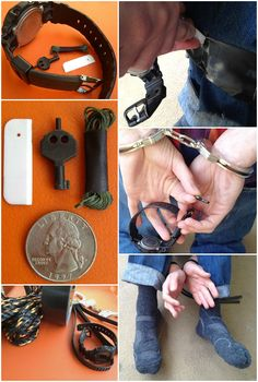 The Anti-Kidnapping Watchband carries hidden escape tools in the watchband allowing the wearer to escape from rope, duct tape, zip ties and handcuffs.