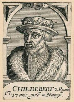 Childebert II (570-596). 28 février 595 : ordonnance du roi Childebert II punissant de mort les homicides. Histoire de France. Patrimoine. Magazine