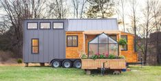 This Tiny House Comes With Its Own Porch Swing and Greenhouse - Cosmopolitan.com