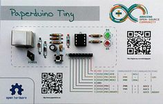 Making an Arduino compatible board on a piece of paper. #Atmel #Arduino…
