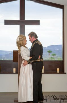First kiss as man and wife during this Arizona country wedding!
