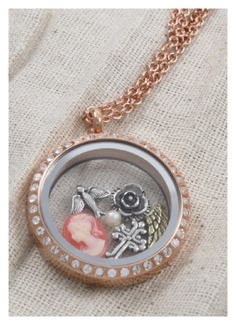 Vintage Charms in Rose Gold Locket. Pretty!