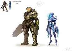 Master Chief and Cortana Re-design by DarrenGeers.deviantart.com on @deviantART