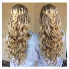 Long hair wedding ❤ liked on Polyvore featuring hair