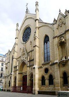 Paris 9e - Eglise Saint-Eugène-Sainte-Cécile vue depuis la rue Sainte-Cécile