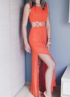 Kup mój przedmiot na #vintedpl http://www.vinted.pl/damska-odziez/sukienki-wieczorowe/9900339-sukienka-maxi-pomaranczowa-hot-summer-wyciecia