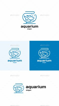 Fish: Animal Logo Design Template by Aquarium Fish Store, Mini Aquarium, Logo Design Template, Logo Templates, Aqua Logo, Fish Logo, Website Logo, H Logos, Logo Branding