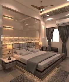 95 Lighting Ceiling Bedroom Ideas For Comfortable Sleep 5 Trendy Bedroom Lighting 6 - topzdesign . Bedroom False Ceiling Design, Luxury Bedroom Design, Bedroom Closet Design, Bedroom Furniture Design, Bedroom Ideas, Interior Design, Bedroom Designs, Modern Luxury Bedroom, Diy Bedroom