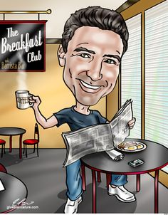 Gifts for Him - Custom Caricatures From A Photo