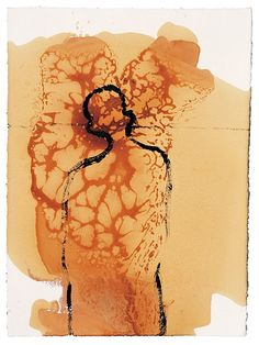Antony Gormley - Hypertrophy, 1998 - Soya oil, shellac, oil and pigment on paper Antony Gormley, Sir Anthony, Artist Sketchbook, Silhouette, Life Drawing, Figurative Art, Abstract Art, Abstract Paintings, Art Boards