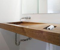 Wall Mounted Wooden Bathroom Sink
