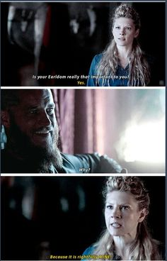 One of the many things I hate Ragnar for. When he needed help, she did everything for him, but when she needs his aid, he laughs at her. Douchebag.