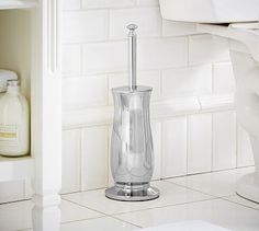 Mercer Toilet Brush - polished nickel finish $39