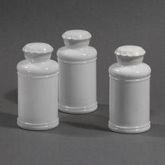 Vintage Milk Glass Spice Bottle Jars