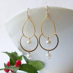 Garnet Dangle Earrings, Birthstone Earrings   Earrings, Etsy and ...