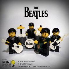Custom Lego Beatles Minifigures