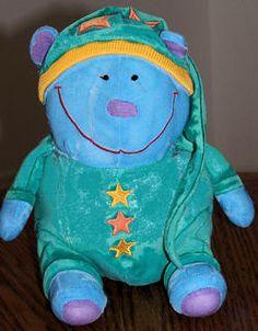 Searching – 2000 Gymboree BLUE BEDTIME BEAR Wearing an Aqua? SLEEP SHIRT & STOCKING CAP