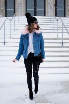 Jaqueta jeans: 50 jeitos de usá-la para ficar linda em qualquer ocasião Ideias Fashion, Denim, Jackets, Outfits, Teen, Oversized Denim Jacket, Rolling Sleeves, Outfit Essentials, Jeans
