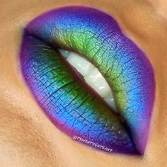 This lip look is an eye catching way to show some color. It is an original ombre lip that is sure to be remembered.