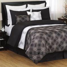 Interesting. $89.99. Comforter, 2 shams, euro sham, bedskirt, oblong pillow, square pillow.