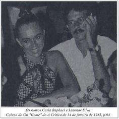 """Carla Raphael e Luismar Silva. Coluna do Gil """"Gente"""" do A Crítica de 14 de janeiro de 1983."""