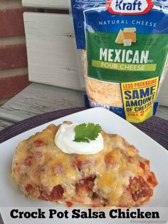 Crock Pot Salsa Chicken - Only 3 ingredients in this low carb dish that the whole family will love