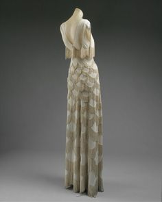 Dress, Evening, spring/summer 1938. Madeleine Vionnet (French, 1876–1975), Designer. French; rayon; Length at CB: 55 in. (139.7 cm) Gift of Madame Madeleine Vionnet, 1952 (C.I.52.18.4)  (c) The Costume Institute of The Metropolitan Museum of Art