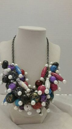 Check out this item in my Etsy shop https://www.etsy.com/listing/215841538/acrylic-necklace-statement-necklace-one
