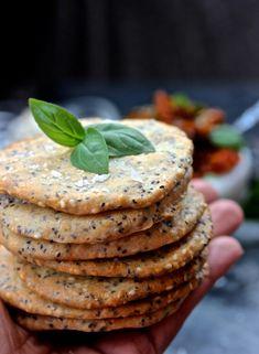 Vegetarian Sweets, Vegan Desserts, Gluten Free Recipes, Vegan Recipes, Cooking Recipes, Keto Crackers Recipe, Low Carb Bread, Greens Recipe, Dessert For Dinner