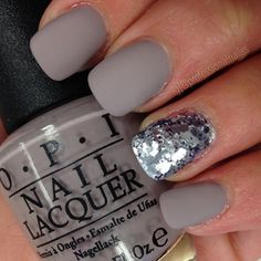 """When it's your close up, you tend to sparkle brighter ✨ OPI ""Taupe-less Beach"", with matte Color Club ""Platinum Record"""" Photo taken by @professionalnailss on Instagram, pinned via the InstaPin iOS App! http://www.instapinapp.com (10/21/2015)"