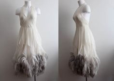 George Stavropoulos / Couture Dress / Feather by blackbearbrooklyn, $1200.00