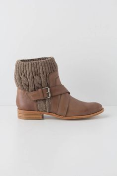 Cableknit booties