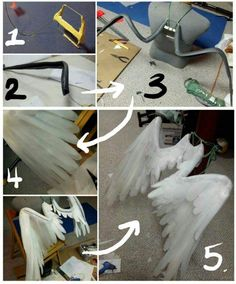 This is a tutorial for some wings I made for Anya from code geass. These wings are very light and . Informations About This is a tutorial for some wings I made for Anya from code geass. These wings Diy Fairy Wings, Diy Angel Wings, Angel Wings Costume, Cosplay Wings, Diy Wings, Cosplay Diy, Maleficent Wings, Maleficent Costume, Halloween Wings