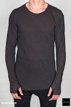 Boris Bidjan Saberi BBS LS1-F013 dark grey 260 € | Seven Shop Dark Grey, Fall Winter, Long Sleeve, Sleeves, Mens Tops, T Shirt, Closet, Shopping, Style