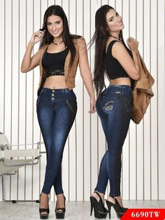 Jeans Levantacola Colombiano Top Women Ref. 123 -6690TW SIZE 11 USA