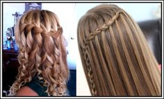simple perfect waterfall Braid best hairstyles for teen girls