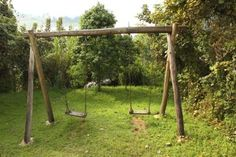 Making this for the kids this summer so excited!!  How to build an A-frame for a wooden swing | eHow UK