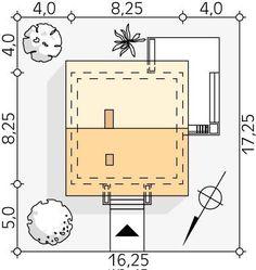 DOM.PL™ - Projekt domu MT Imbir 4 paliwo stałe CE - DOM MS4-69 - gotowy koszt budowy Floor Plans, Projects, Floor Plan Drawing