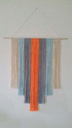 Bohemian Style Yarn Wall Hanging by CreativeChicShop on Etsy