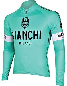 Honey, I know you don't bike professionally, but you'd look really cute in this Bianchi-Milano Celeste L/S Jersey
