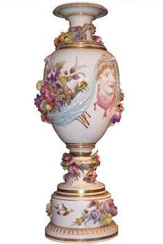 Antique KPM Königliche Porzellan Manufaktur Porcelain Urn Vase